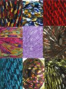 135 yrds 9 colors Ladder Trellis Yarn for 9 necklaces mix lot 3