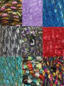 135 yrds 9 colors Ladder Trellis Yarn for 9 necklaces mix lot 5