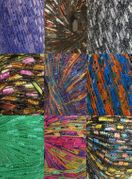 135 yrds 9 colors Ladder Trellis Yarn for 9 necklaces mix lot 7