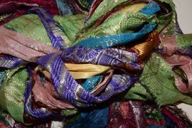 5 Yards Sari Silk Ribbon