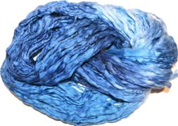 Bulky Acrylic Blue Multi Yarn 100 gr for Weaving, Rug hooking, Bookmaking, Jewelry