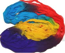 50g Sari Chiffon Silk Ribbon Art Yarn Rainbow 1