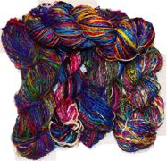 100g Fine Lace weight Himalayan SILK Yarn Blue Green Pink