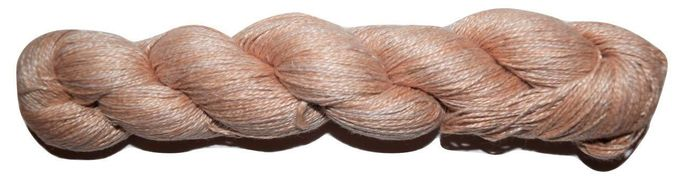 400 yards 100% Linen Lace Knitting Yarn Brown 100 gr skein