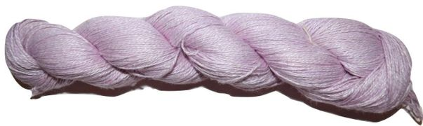400 yards 100% Linen Lace Knitting Yarn Pink 100 gr skein