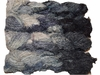 100g Fuzzy Cotton Linen Yarn Black White
