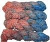 100g Fuzzy Cotton Linen Yarn Blue Orange