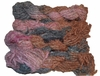 100g Fuzzy Cotton Linen Yarn Brown Pink