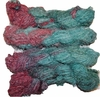 100g Fuzzy Cotton Linen Yarn Salmon Aqua