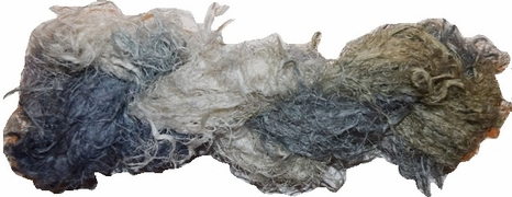 100g Fuzzy Cotton Linen Yarn Silver Olive