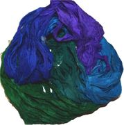 50g Sari Silk Ribbon Art Yarn Ocean Shade