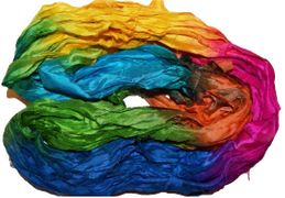 50g Sari Silk Ribbon Art Yarn Rainbow 1