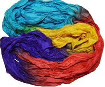 50g Sari Silk Ribbon Art Yarn Rainbow 2