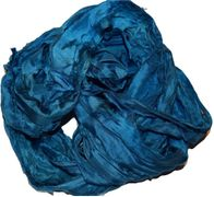 50g Sari Silk Ribbon Art Yarn Turquiose