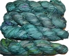 100g Sari SILK Ribbon Art Yarn Aqua Shade