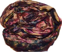 100g Sari SILK Ribbon Art Yarn Berry Tie Dye