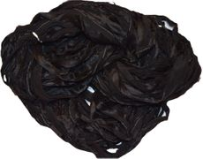 100g Sari SILK Ribbon Art Yarn Black