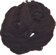 100g Sari SILK Ribbon Art Yarn Black Chiffon