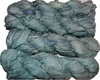 100g Sari SILK Ribbon Art Yarn Blue Green Ocean