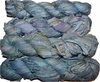 100g Sari SILK Ribbon Art Yarn Blue Lavender Ocean