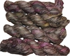 100g Sari SILK Ribbon Art Yarn Blue Olive Pinkish
