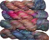 100g Sari SILK Ribbon Art Yarn Blue Pink Garden