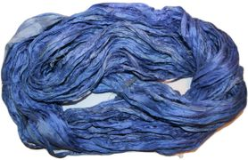100g Sari SILK Ribbon Art Yarn Blue Purple