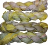 100g Sari SILK Ribbon Art Yarn Canary Olive