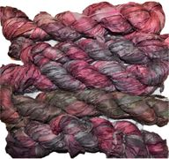 100g Sari SILK Ribbon Art Yarn Cherry