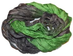 100g Sari SILK Ribbon Yarn Forest Night