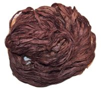 100g Sari SILK Ribbon Yarn Hickory