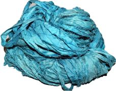100g Sari SILK Ribbon Art Yarn High Tide