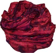 100g Sari SILK Ribbon Art Yarn Hot Pink TieDye