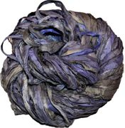 100g Sari SILK Ribbon Art Yarn Midnight