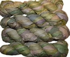 100g Sari SILK Ribbon Art Yarn Moss Green