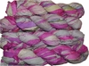 100g Sari SILK Ribbon Art Yarn Mulberry Silver