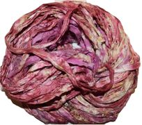 100g Sari SILK Ribbon Art Yarn Mulberry Tie Dye