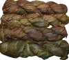 100g Sari SILK Ribbon Art Yarn Mustard Greenish