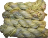 100g Sari SILK Ribbon Art Yarn Olive Yellow