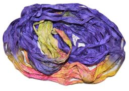 100g Sari SILK Ribbon Yarn Pancy Multi