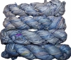 100g Sari SILK Ribbon Art Yarn Parad Blue