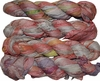 100g Sari SILK Ribbon Art Yarn Peachy Multi