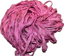 100g Sari SILK Ribbon Art Yarn Pink Blossom