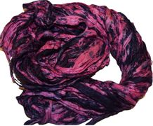 100g Sari SILK Ribbon Art Yarn Pink Purple TieDye