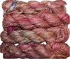100g Sari SILK Ribbon Art Yarn Pinkish Burgundy