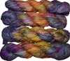 100g Sari SILK Ribbon Art Yarn Purple Fire