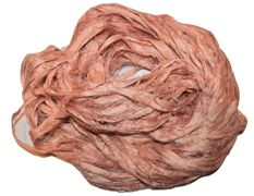 100g Sari SILK Ribbon Yarn Salmon