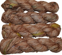 100g Sari SILK Ribbon Art Yarn Sandy Brown