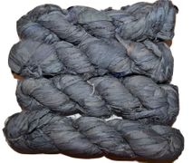 100g Sari SILK Ribbon Art Yarn Slate Blue