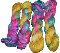 100g Sari SILK Ribbon Yarn Summer Multi